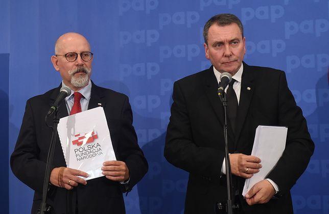 Prezes zarządu PFN Cezary Andrzej Jurkiewicz oraz członek zarządu Maciej Świrski.