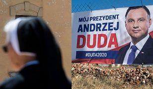 Wybory 2020. W Poznaniu siostry zakonne wywiesiły banery wyborcze