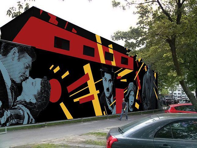Filmowy mural na Żoliborzu. Wraca kino Elektronik!