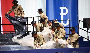 Amerykańscy żołnierze podczas przygotowań do wizyty prezydenta Trumpa w Polsce
