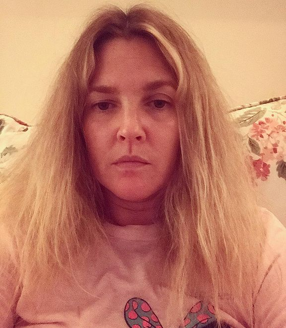 Smutna Drew Barrymore na Instagramie. Powodem były włosy