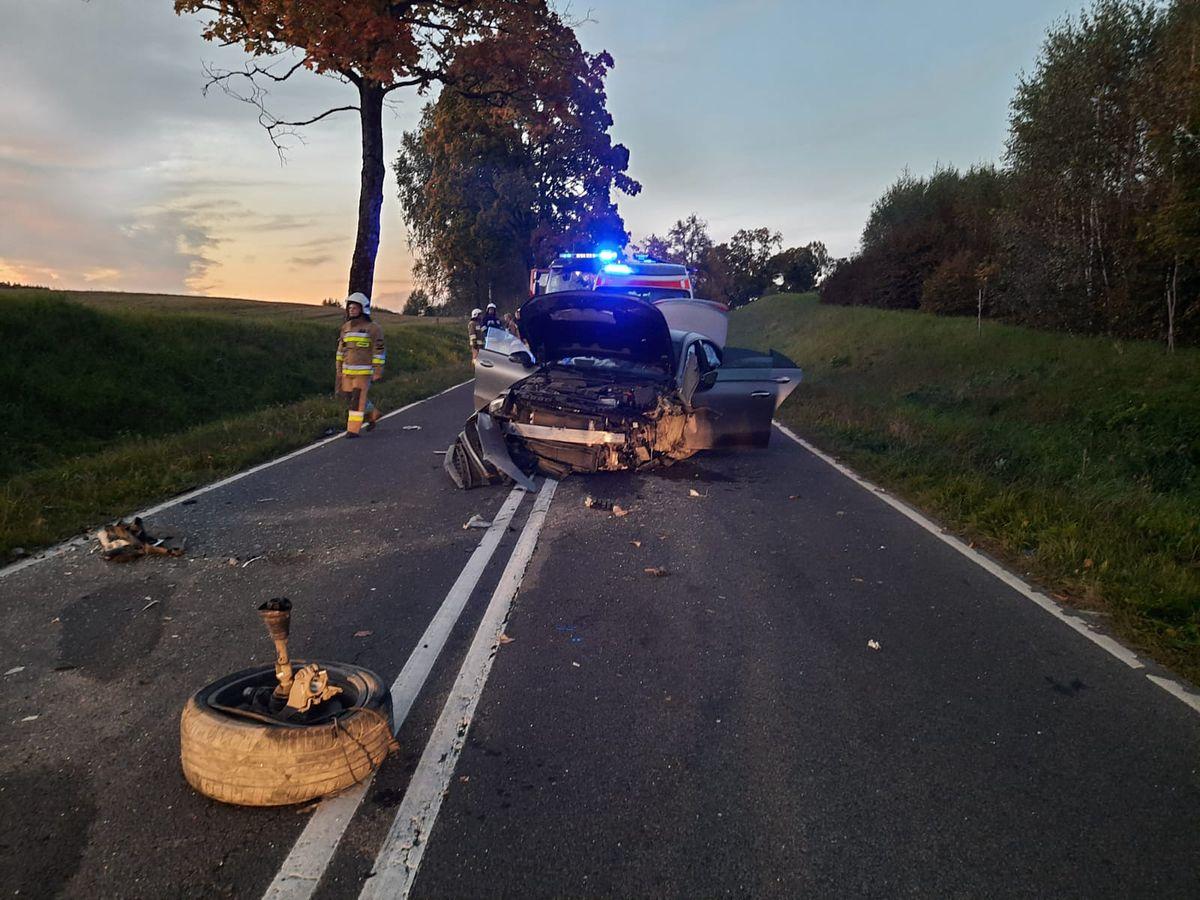 Dwie kobiety zginęły w wypadku pod Olsztynem. Dziecko trafiło do szpitala