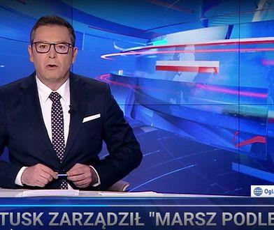 """Tak TVP pokazała protesty i Tuska. """"Wiadomości"""" znowu to zrobiły"""