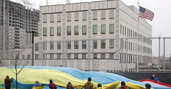 Wybuch na terenie ambasady USA w Kijowie