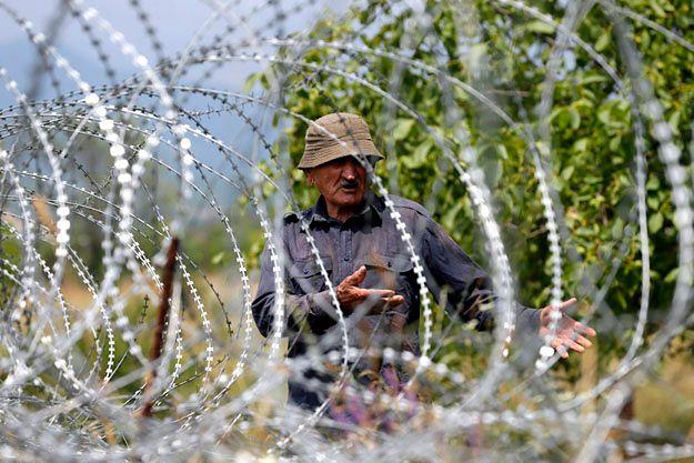 Zasieki oddzielające Gruzję od Osetii Południowej