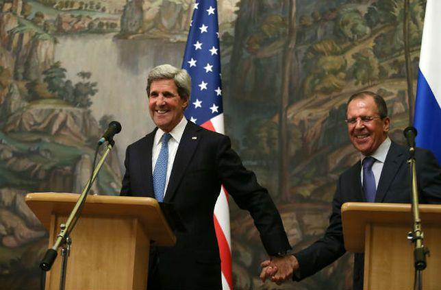 John Kerry i Siergiej Ławrow na wspólnej konferencji w 2013 roku