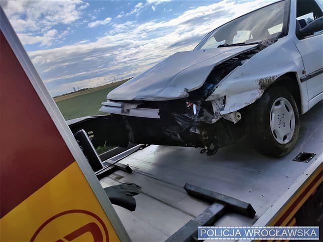 Wrocław. Wypadek na autostradzie A4. Kierowca był poszukiwany przez wymiar sprawiedliwości