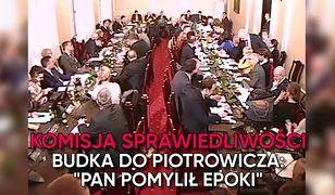 Burzliwe posiedzenie komisji sprawiedliwości. Budka składa zawiadomienie na Piotrowicza