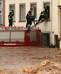 Niemcy i Belgia walczą z powodziami. Tragiczny bilans ulew [WIDEO]