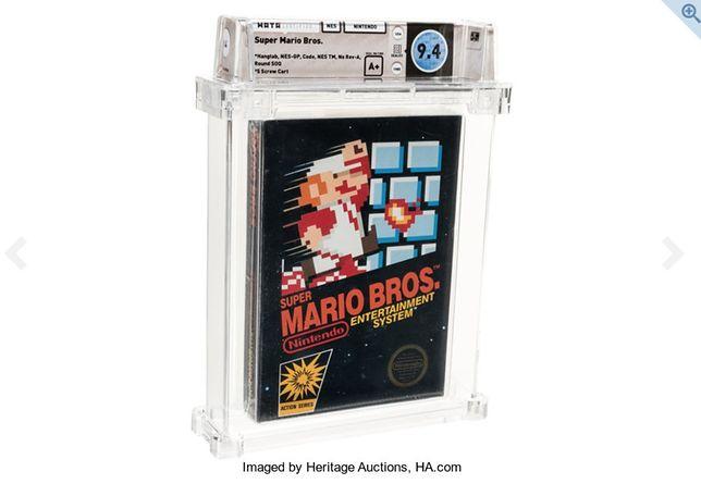 Super Mario Bros.: oryginalna wersja gry na NES sprzedana za prawie pół miliona zł