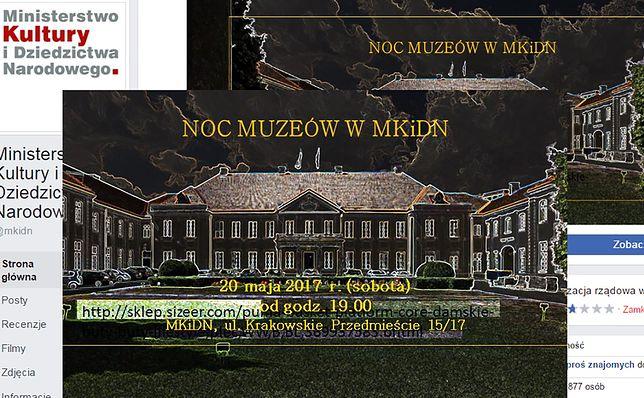 Kolejna wpadka Ministerstwa Kultury. Urzędnicy zapraszają na Noc Muzeów reklamując sklep obuwniczy