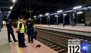 Wypadek na dworcu kolejowym w Czempiniu w Wielkopolsce