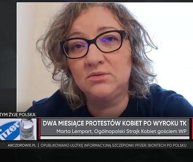 """Sylwester przed domem Kaczyńskiego. Marta Lempart: """"Nie namawiamy"""""""