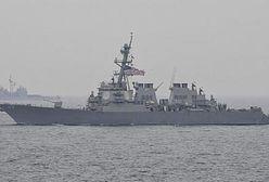 Amerykański niszczyciel zderzył się z japońskim statkiem