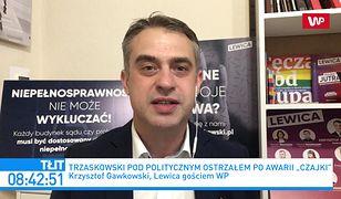 """""""Czajka"""" i problemy prezydenta Warszawy. Krzysztof Gawkowski: dowód na upolitycznienie"""