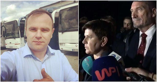 (Po lewej) burmistrz Karol Rajewski. (po prawej) premier Szydło z wizytą na Pomorzu.
