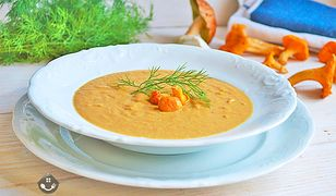 Kremowa zupa z kurek. Pożywna, prosta i szybka
