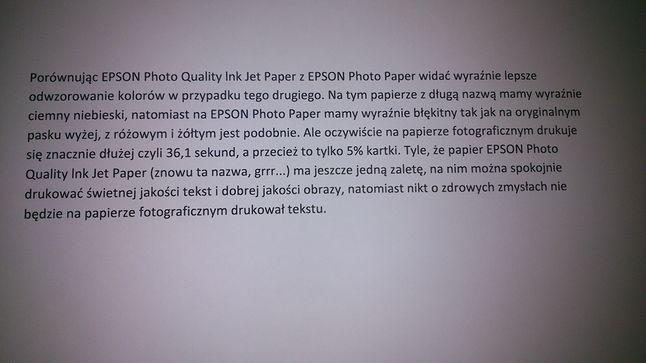 zdjęcie tekstu wydrukowanego na papierze o długiej nazwie =)