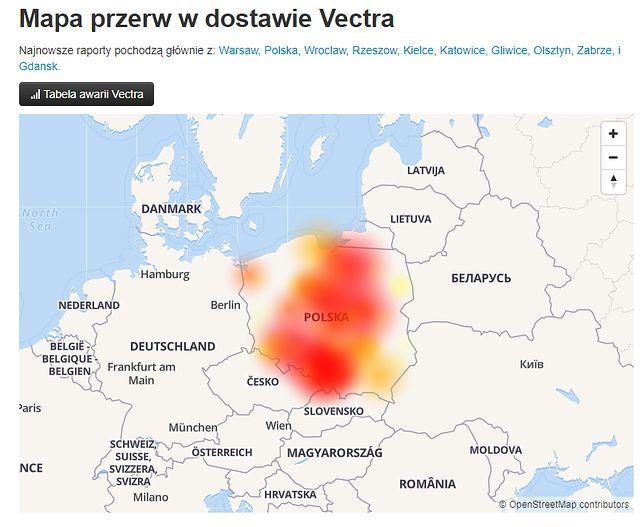 Przerwy w dostawie internetu w Polsce. Mapy pokazują skale problemu