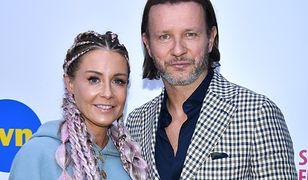 Małgorzata Rozenek i Radosław Majdan na festiwalu w Sopocie