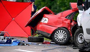 Audi A4 kierował 21-latek, a jego pasażerem był 19-latek