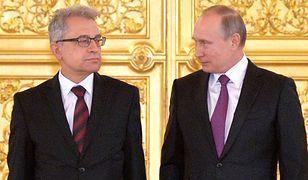 Włodzimierz Marciniak z Władimirem Putinem