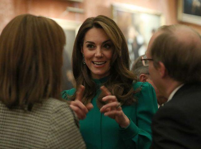 Kate Middleton pojawiła się na przyjęciu w Pałacu Buckingham