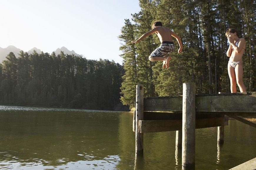 Pobyt nad jeziorem łączy się z wieloma niebezpieczeństwami