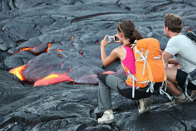 """Turysta wpadł do wulkanu. Chciał mu się """"lepiej przyjrzeć"""""""
