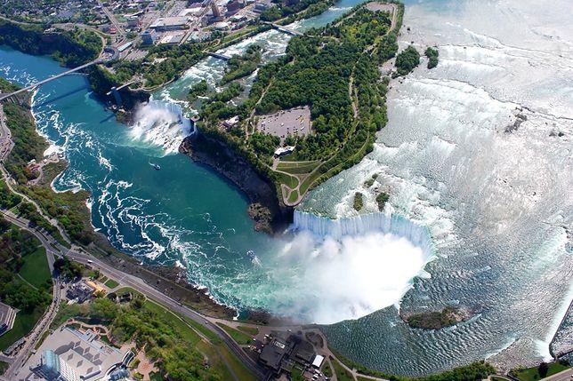 USA - Niagara przez miesiące bez wody