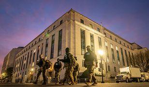 Członkowie Gwardii Narodowej są przydzielani do służby w Kapitolu Stanów Zjednoczonych w Waszyngtonie