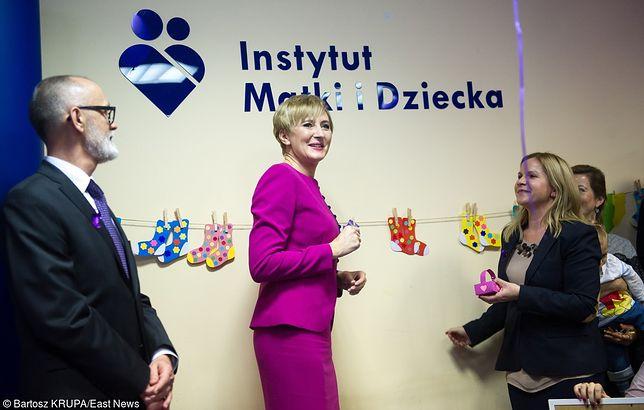 Agata Duda w Instytucie Matki i Dziecka