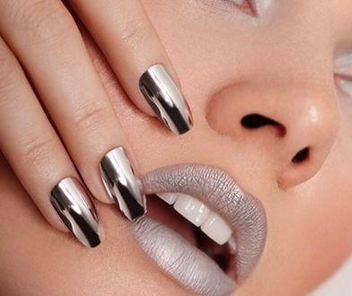 Lustrzane paznokcie hybrydowe to niepowtarzalna stylizacja