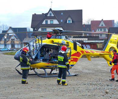 Podczas działań ratunkowych konieczna była pomoc śmigłowca LPR