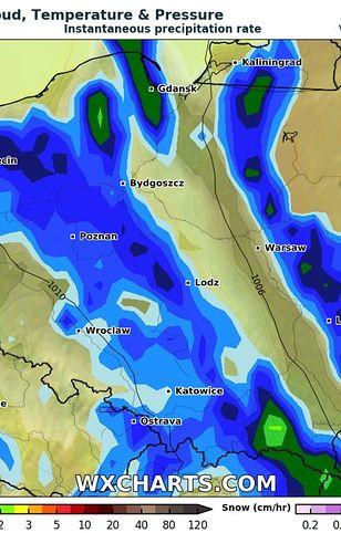 Prognoza pogody. Opady deszczu we wtorek 18 maja