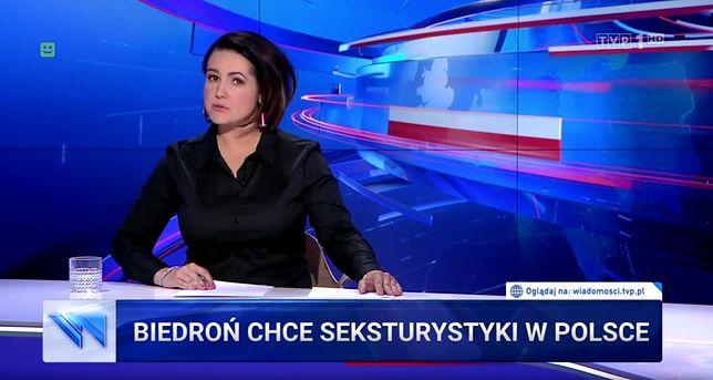 """Jednym z tematów wtorkowego wydania """"Wiadomości"""" były rzekome słowa Biedronia"""