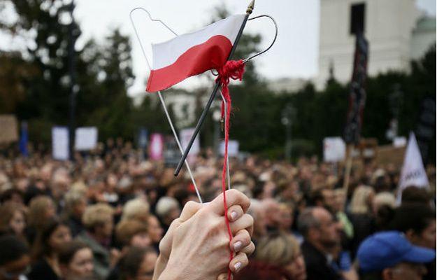 Protest aborcyjny przed Sejmem