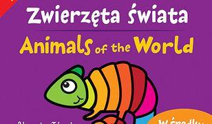 Zwierzęta świata. Kolorowanki polsko- angielskie z naklejkami