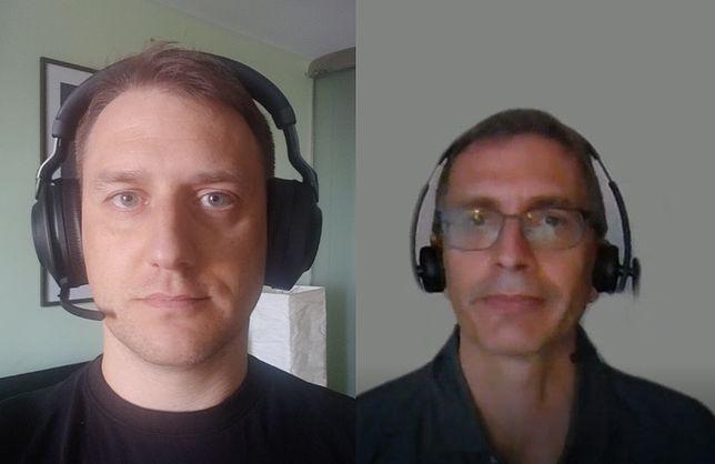 Bolesław Breczko i dr Ken Farley podczas rozmowy na Skype po udanym wystrzeleniu łazika Perseverance