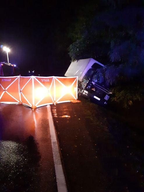 Strzelce. Tragiczny wypadek na drodze krajowej nr 12 (Fot.: policja.gov.pl)