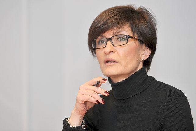 """Marzena Paczuska, była szefowa """"Wiadomości"""" TVP."""