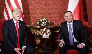 Donald Trump i Andrzej Duda w Warszawie