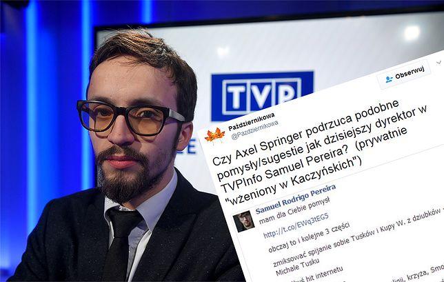 Internauci uderzają w Samuela Pereirę z TVP. Podpowiadał blogerowi jak oczernić Donalda Tuska