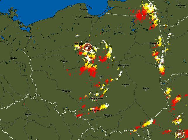 Aktualna sytuacja burzowa w Polsce
