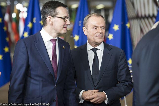 Mateusz Morawiecki i Donald Tusk