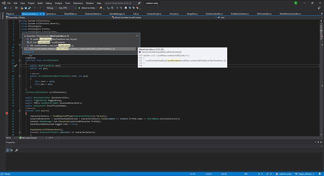 IntelliCode w Visual Studio 2019 z ciemnym motywem
