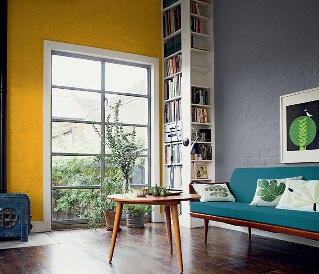 Kolorowe ściany - pomysły na żywy kolor ścian