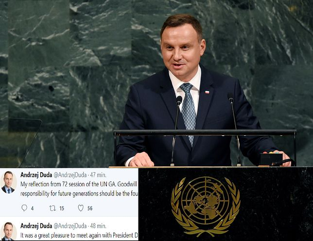 Duda na Twitterze o Trumpie i ONZ