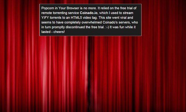 Popcorn Time: Legalne oglądanie filmów w internecie? Było, minęło
