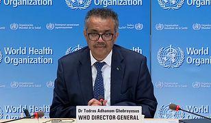 """Szef WHO: """"Pandemia koronawirusa nie zbliża się do końca"""""""